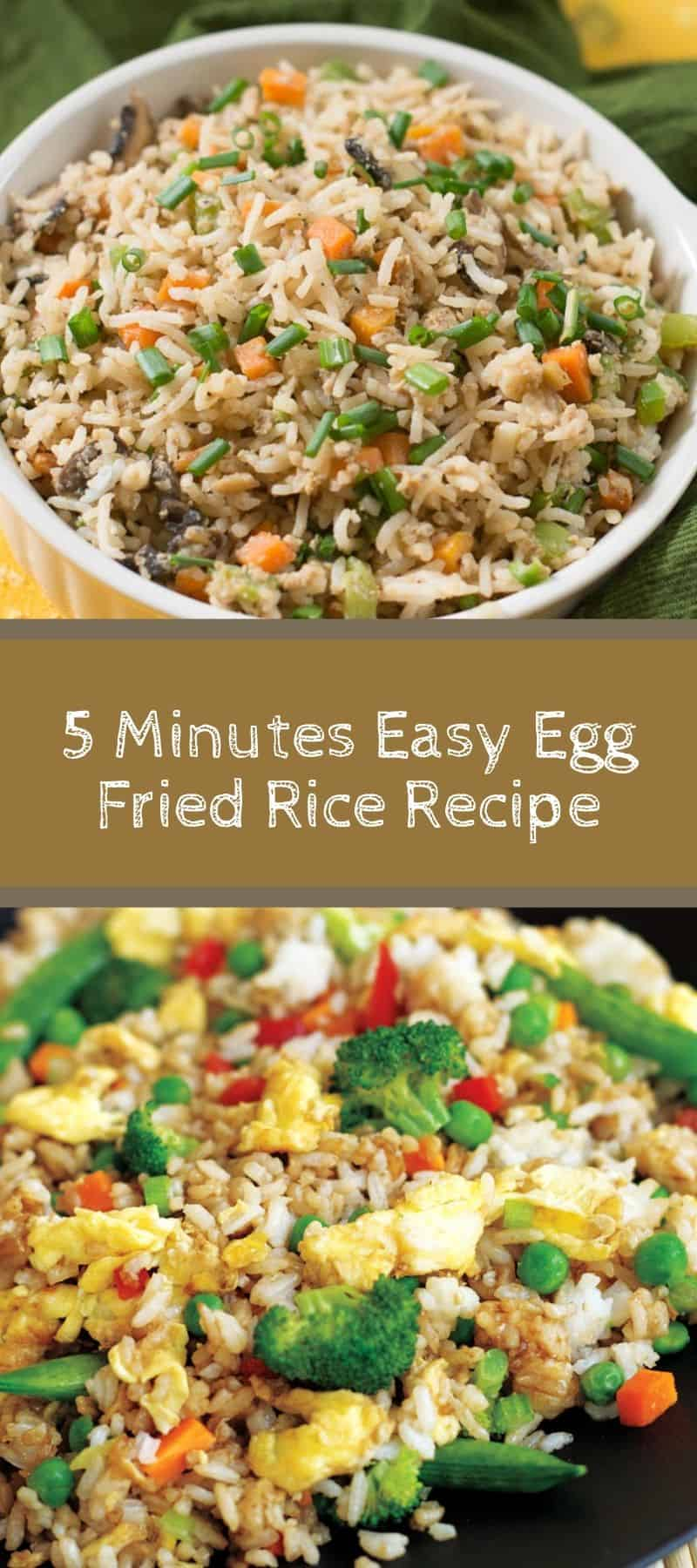 5 Minutes Easy Egg Fried Rice Recipe 3