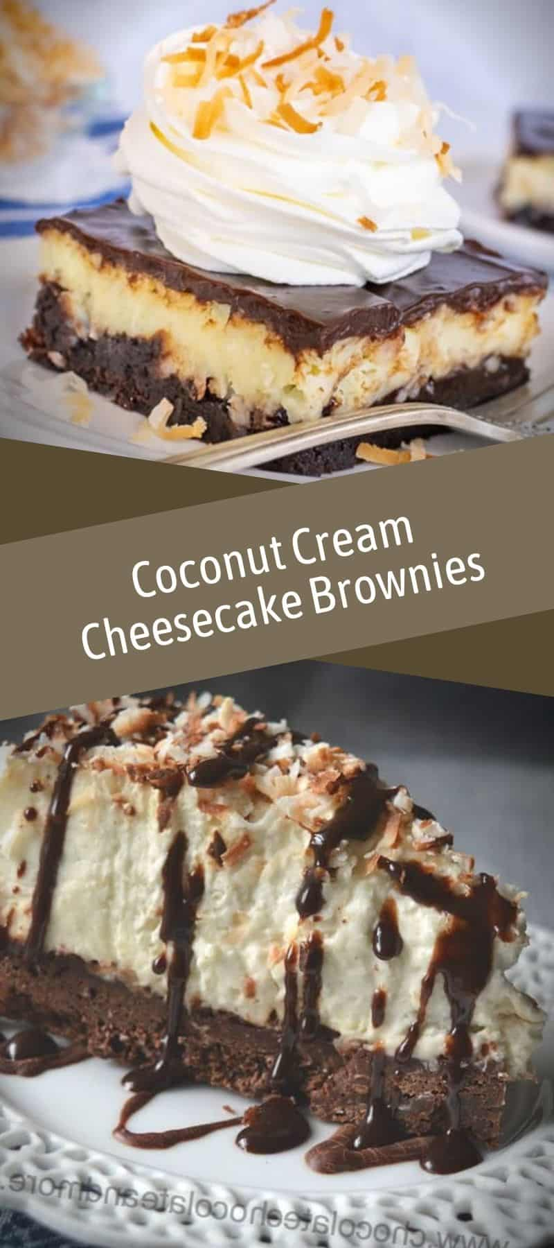 Coconut Cream Cheesecake Brownies Recipe 3