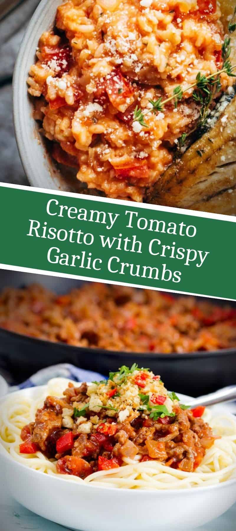 Creamy Tomato Risotto with Crispy Garlic Crumbs 3