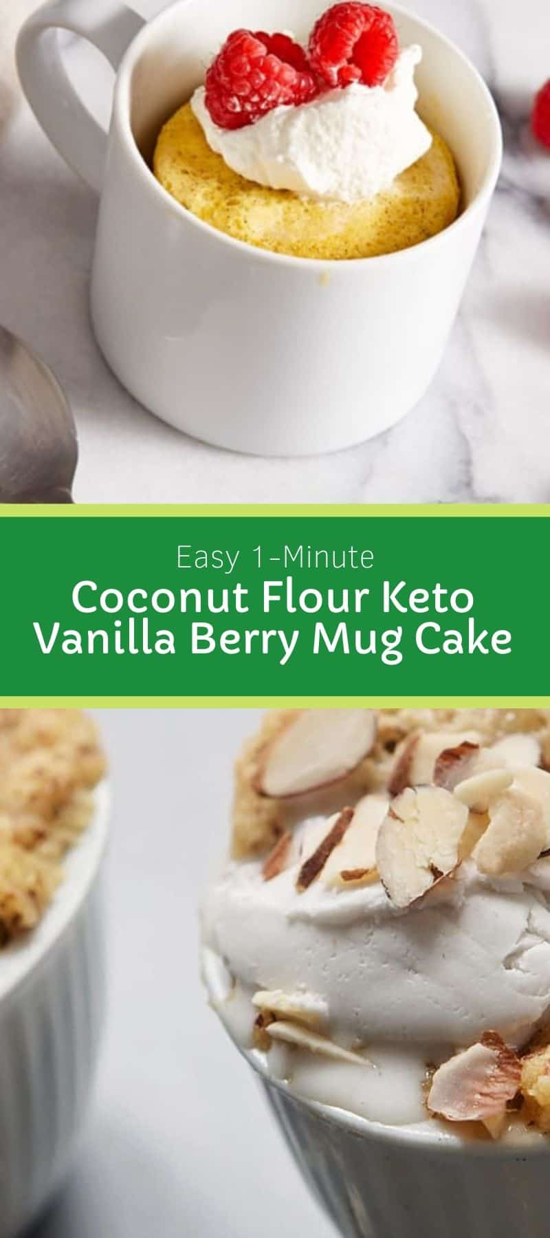 Easy 1-Minute Coconut Flour Keto Vanilla Berry Mug Cake 3
