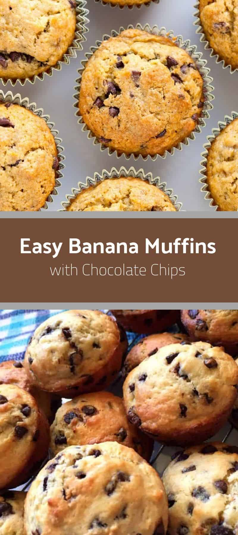 Easy Banana Muffins with Chocolate Chips 3