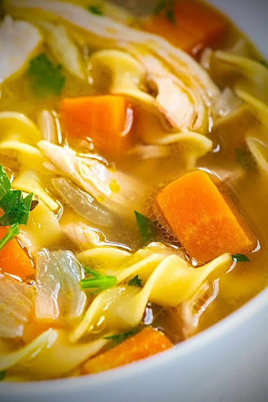 easy homemade chicken noodle soup recipe - grandma linda's