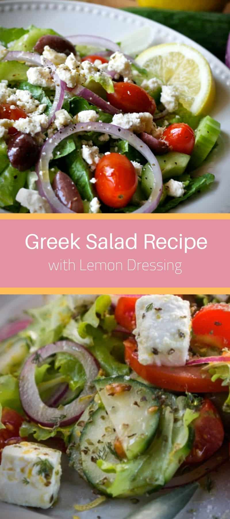 Greek Salad Recipe with Lemon Dressing 3