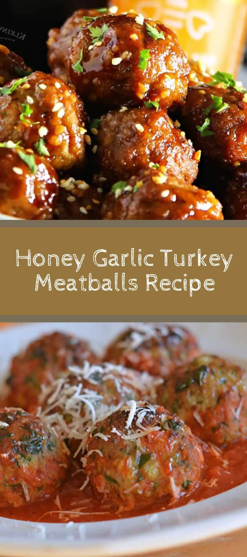Honey Garlic Turkey Meatballs Recipe 3