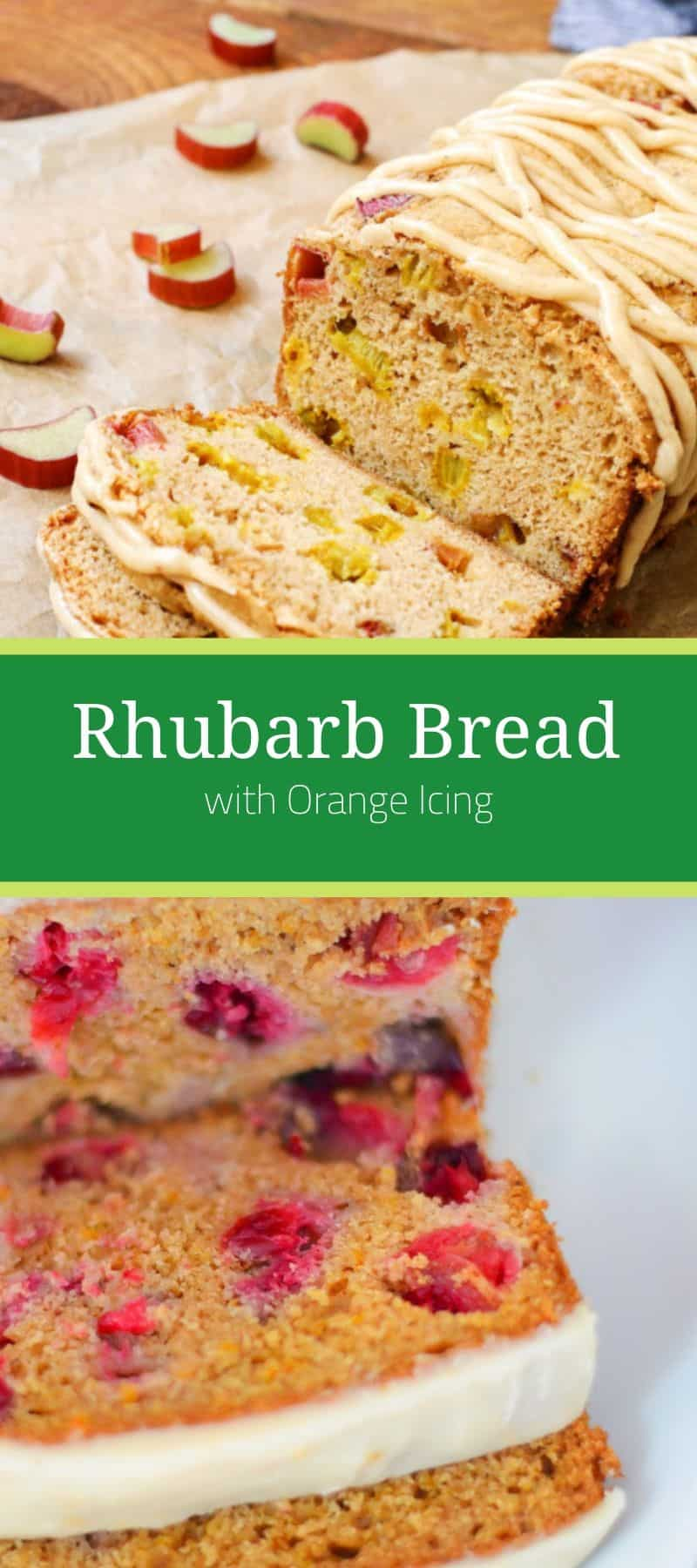 Rhubarb Bread Recipe with Orange Icing 3