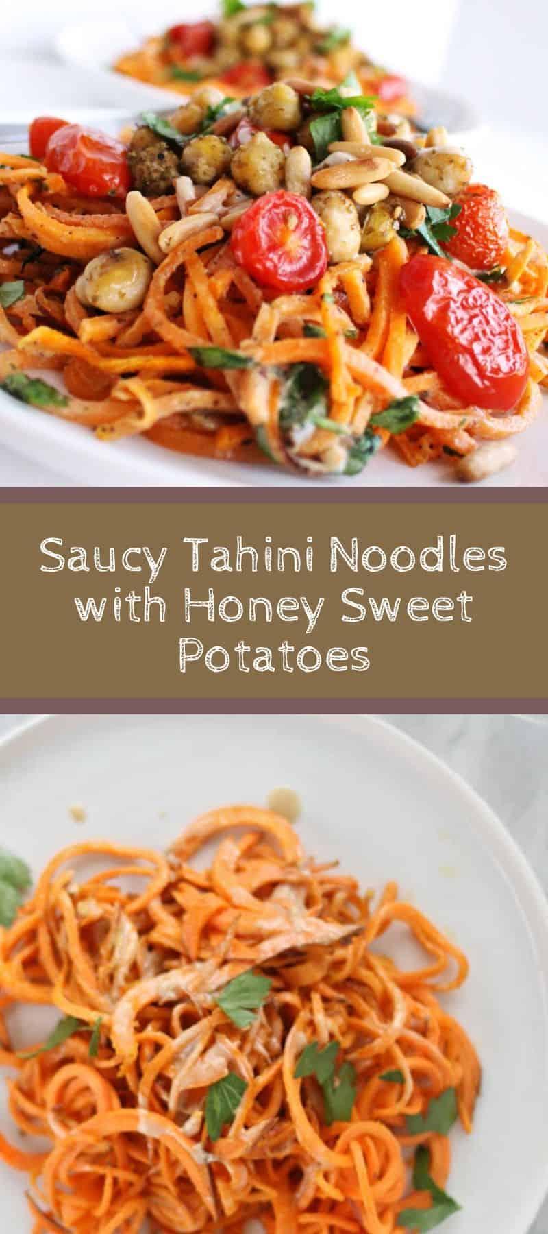 Saucy Tahini Noodles with Honey Sweet Potatoes 3