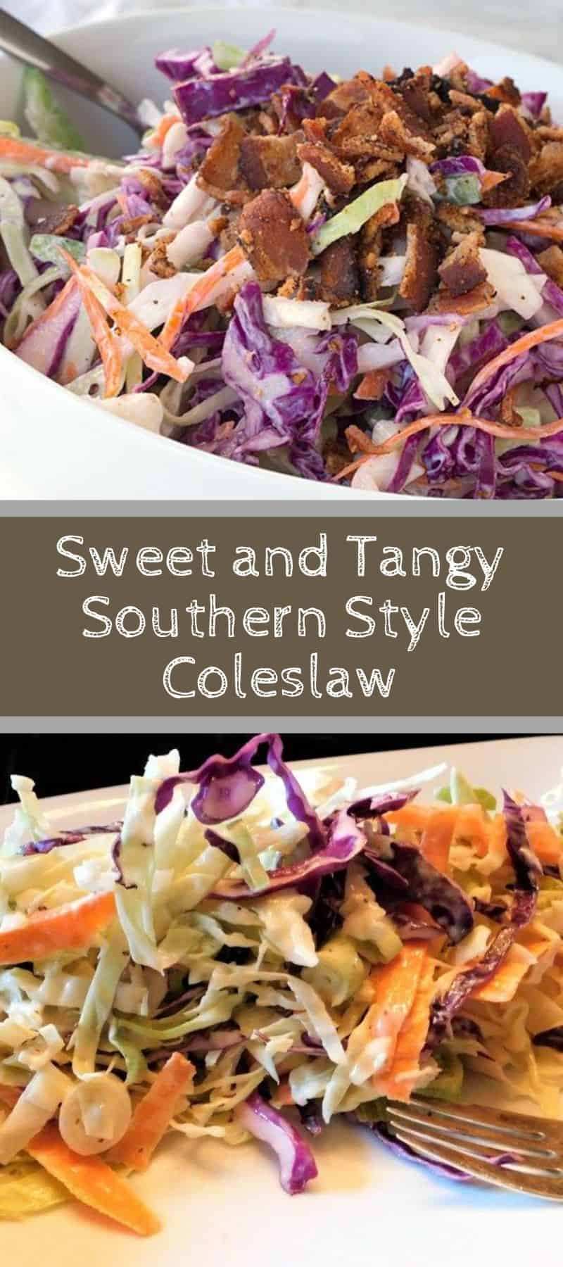 Sweet and Tangy Southern Style Coleslaw