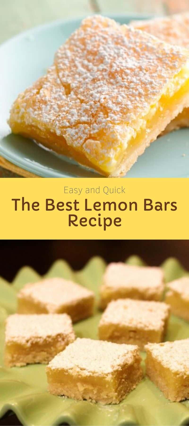 The Best Lemon Bars Recipe 4
