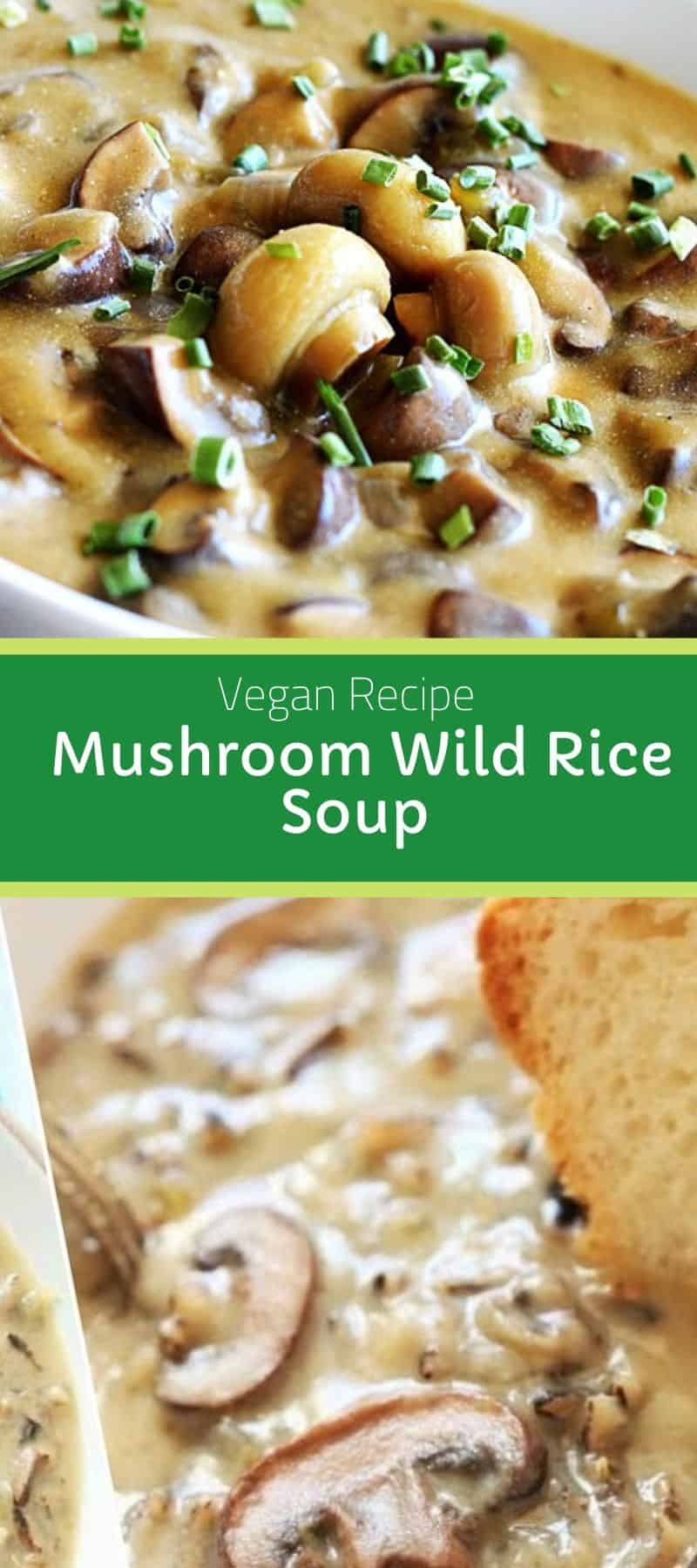 Vegan Mushroom Wild Rice Soup Recipe 3